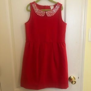 Crewcuts Girls red dress 10 EUC